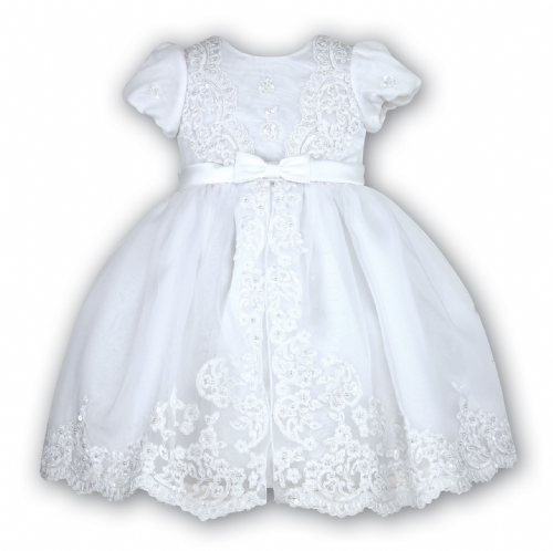 Sarah Louise White Occasional Embelished Dress